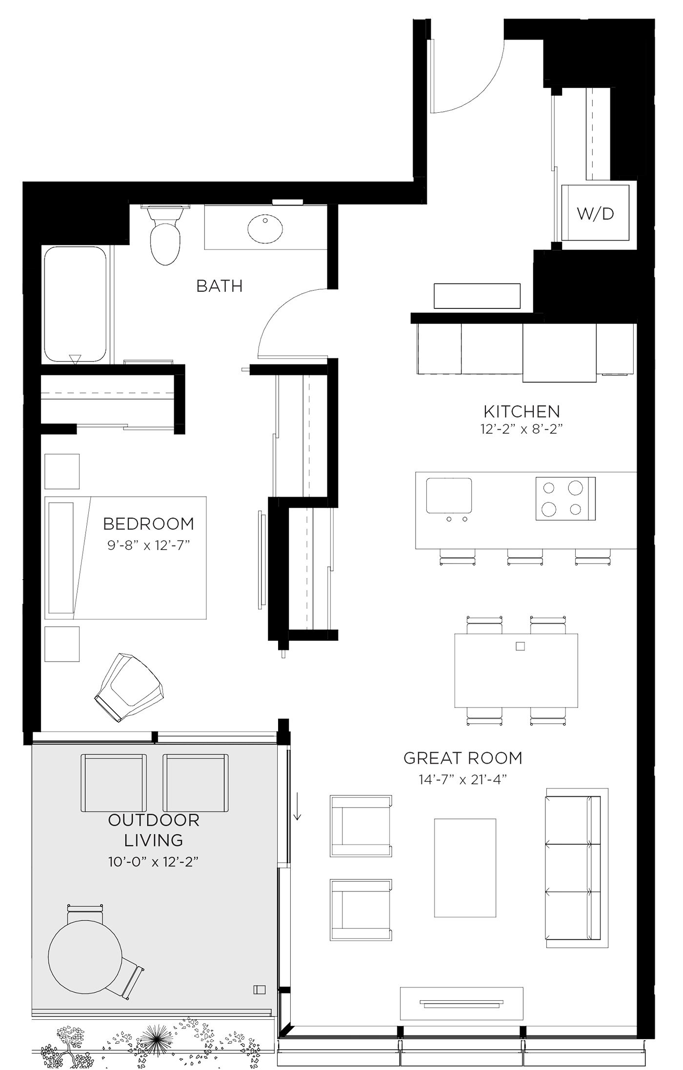 Unit 01D Floor Plan