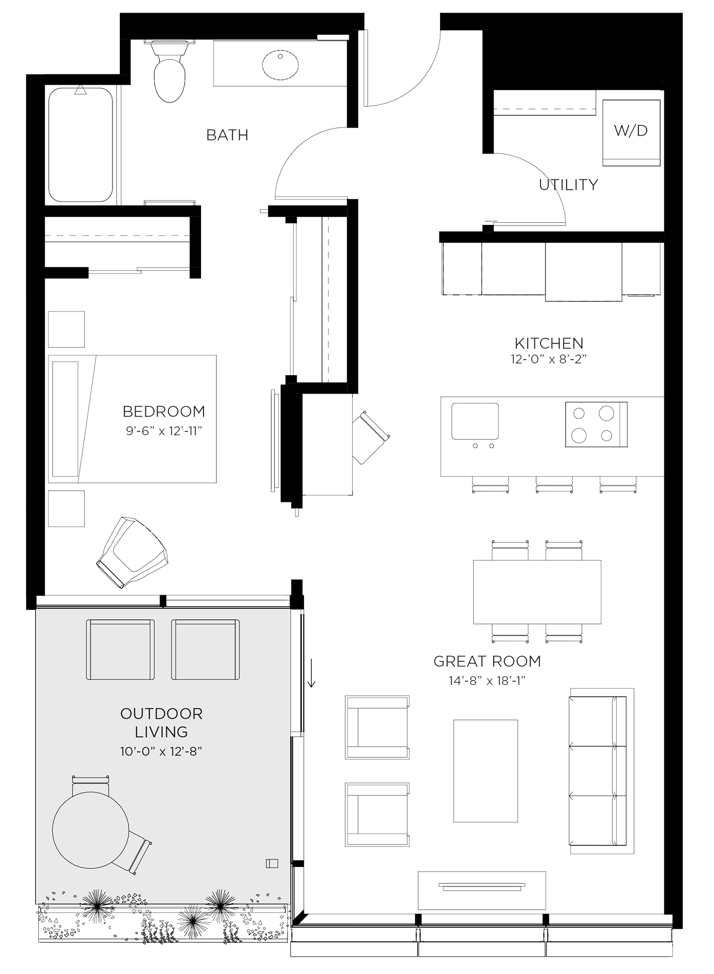 Unit 01G Floor Plan