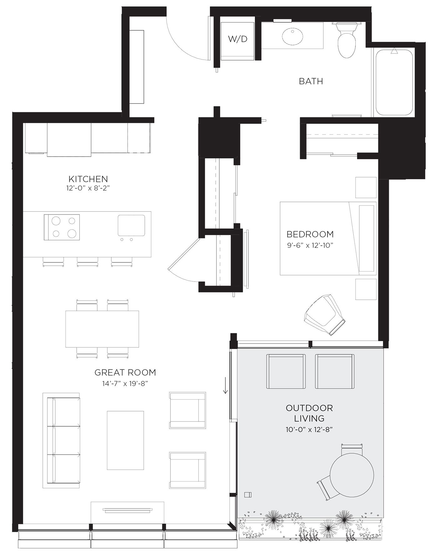 Unit 01K Floor Plan