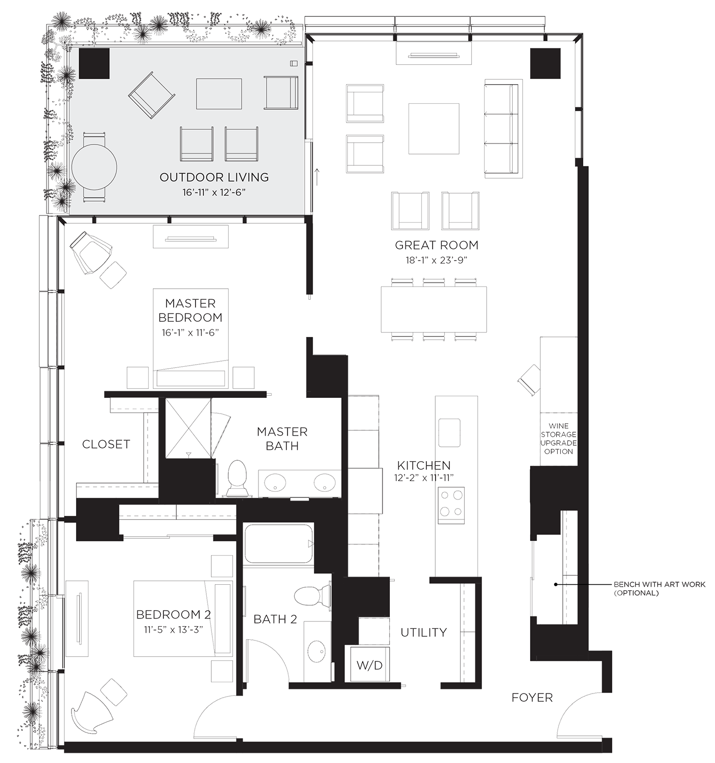 Unit 02B Floor Plan